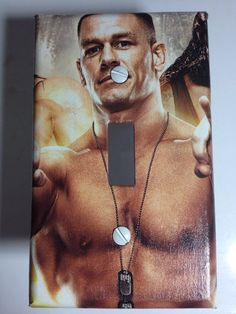 WWE John Cena Light Switch Plate Cover Comic Book by ComicRecycled, $7.99 You know you want it Wwe Bedroom, Bedroom Themes, Kids Bedroom, Switch Plate Covers, Light Switch Plates, Light Switch Covers, Cena Light, Wrestling Birthday, Wwe 2