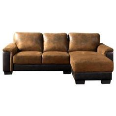 Abbyson Living, Braxton Brown Sectional Sofa, LI-HB157-BRN at The Home Depot - Tablet