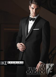 Black 'Braydon' Tuxedo from http://www.mytuxedocatalog.com/catalog/rental-tuxedos-and-suits/c1007-ike-behar-black-braydon-slim-tuxedo/
