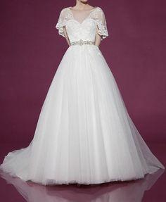 Custom Made 2014 New Princess Sweetheart Tulle Sashes Elegant Wedding Dress #Handmade #Formal