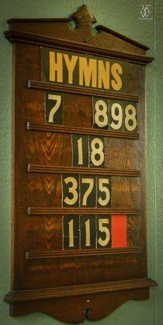 Old-Fashioned Hymn Board