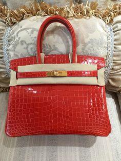 Hermes Birkin, Birkin Bags, Hermes Bags, Crocodile, Gold Hardware,  Reflection, e11bd599ff