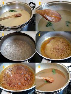 The Informal Chef: Smooth Hainanese Kaya (Caramel Coconut Jam) 焦糖椰香咖椰 Pandan Kaya Recipe, Kaya Jam Recipe, Curd Recipe, Jam Recipes, Canning Recipes, Delicious Recipes, Snack Recipes, Malaysian Dessert, Malaysian Food