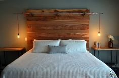 ... Bedroom Industrial With Winsome Exposed Electrical Ceiling Wire Next To  Good Looking Reclaimed Wood Headboard Alongside Beguiling Wrought Iron Bed  Ideas ...