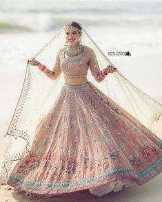 """Best Bridal Portraits """"Solo"""" poses for all bride-to-be - SetMyWed - Indian designer outfits - Designer Bridal Lehenga, Wedding Lehenga Designs, Wedding Lehnga, Bridal Lehenga Choli, Bollywood Lehenga, Wedding Hijab, Punjabi Wedding, Boho Wedding, Indian Bridal Outfits"""