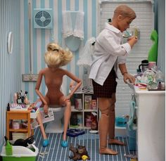 """This must be from Barbie's """"Realistic Expectations"""" dream house // Borderline, but awkwardly hilarious."""