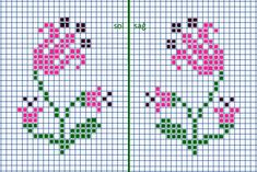 Cute Cross Stitch, Cross Stitch Borders, Cross Stitch Flowers, Cross Stitch Designs, Cross Stitch Charts, Cross Stitching, Cross Stitch Patterns, Hand Embroidery Patterns, Embroidery Designs