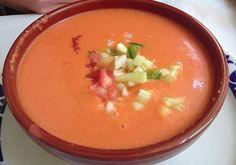 Receta de Gazpacho Andaluz para el verano