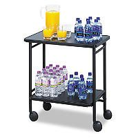 Safco® Fold-Away 2-Shelf Beverage Cart - Black - Sam's Club