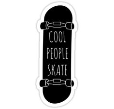 """Cool People skate"" Stickers by Fuchs-und-Spatz 