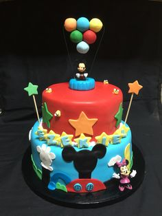 Mickeys playhouse birthday cake