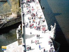 Ponte Carlo a Praga visto dall'alto