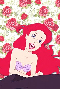 disney the little mermaid ariel floral Disney Princess iphone background Ariel and Eric iPhone Wallpaper