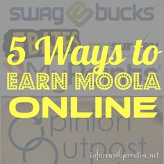5 Ways to make a little extra cash online doing simple things.