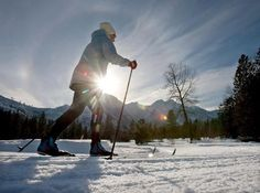 Sleeping Lady Mountain Resort and the Northwest Mountain School host Ski for Health Day located at the Icicle River Trail on the edge of Leavenworth, Washington. DON SEABROOK / AP
