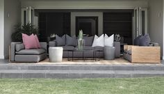 Tonic Design Outdoor Sectional, Sectional Sofa, When I Grow Up, Outdoor Furniture Sets, Outdoor Decor, Terrace, Designers, Interiors, Projects