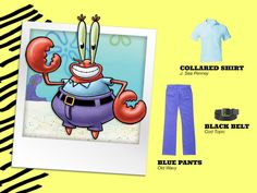 Here's a cheap way to dress like Mr. Krabs!