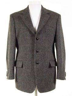 Tweed Jackets, Harris Tweed Jacket, Vintage Designer Clothing, Elbow Patches, Herringbone, Vintage Outfits, Blazer, Stuff To Buy, Men