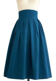 teal midi pleated skirt- I will make this