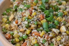 This Cauliflower Fried Rice with Chia Seeds is easier and quicker than traditional fried rice plus its grain free and tastier. My Favorite Food, Favorite Recipes, Cauliflower Fried Rice, Chia Seeds, Healthy Recipes, Healthy Food, Grain Free, Fries, Keto