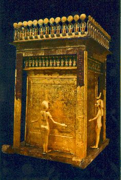 shrine found in the tomb, containing Tut's intestines.