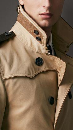 Mid-Length Cotton Gabardine Contrast Detail Trench Coat | Burberry *faints*
