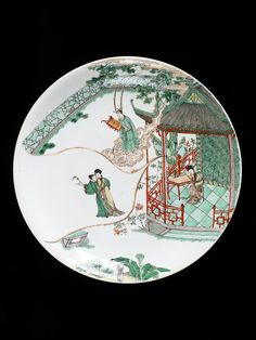 Dish      Place of origin:      Jingdezhen, China (made)     Date:      1680-1722 (made)     Artist/Maker:      unknown (production)     Materials and Techniques:      Porcelain painted in enamel colours