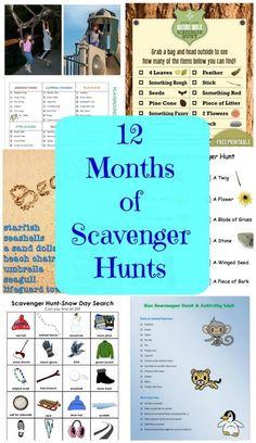 Scavenger Hunts for Kids - Indoor & Outdoor free printables