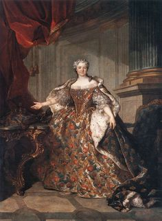 Marie Leczinska, Queen of France1740TOCQUÉ, LouisOil on canvas, 277 x 191 cmMusйe du Louvre, Paris