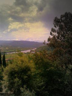 Vista del río Miño, desde la carretera de Ribadavia a Melón, Ourense - Vista do río Miño, dende a estrada de Ribadavia a Melón