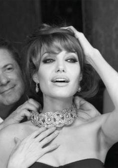 Angelina Jolie in diamonds; love both Angie and diamonds :)