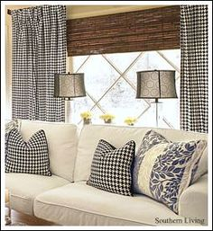 Living Room Ideas! Are you looking for inspiration and ideas?- bamboo winDow shades behind drapes