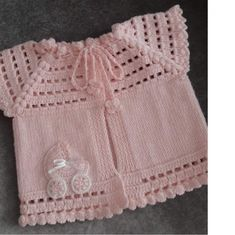 Knitting Sweater for 1 to 2 years Kid / Side Open Sweater - Crochet Macaron Baby Girl Crochet, Crochet For Kids, Knit Crochet, Knitted Baby, Baby Knitting Patterns, Hand Knitting, Woven Wrap, Baby Cardigan, Cute Outfits For Kids