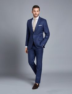 W:58 To Win A High Admiration And Is Widely Trusted At Home And Abroad. jacket+pants+tie Discreet New Arrivals Blue Mens Suits Groom Tuxedos Groomsmen Wedding Party Dinner Best Man Suits