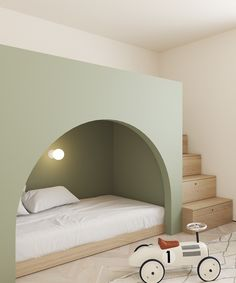 This Modern Scandinavian-Style Apartment is a Lesson in Warm Minimalism. This Modern Scandinavian-Style Apartment is a Lesson in Warm Minimalism. It is clean and elegant, and I am loving it! Copenhagen Apartment, Modern Kids Bedroom, Modern Kids Beds, Modern Kids Furniture, Kids Room Furniture, Furniture Showroom, Steel Furniture, Furniture Plans, Rustic Furniture