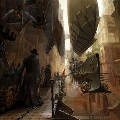 Gunfighter Art | Abstract HD Steampunk Wild West Gunfighters Wallpaper for iPad 4