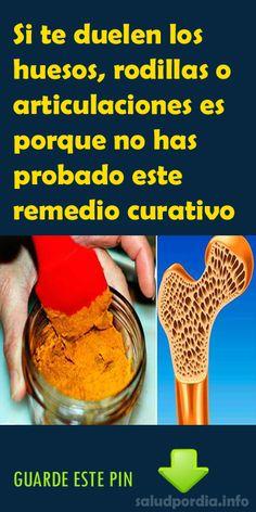 Si te duelen los huesos, rodillas o articulaciones es porque no has probado este remedio curativo. #huesos #rodillas #articulaciones #salud