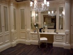 Clive Christian Kitchens Showrooms | ... glass-fronted robes with Clive Christian Monogram Silk fabric inside....THE VANITY AREA OF THE DRESSING AREA AND MASTER BATH. BY THE WAY,THE HOME HAS FOUR MASTER SUITES !!!! KEEPER..'Cherie