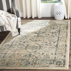 Shop for Safavieh Evoke Beige/ Turquoise Rug (5'1 x 7'6). Get free shipping at Overstock.com - Your Online Home Decor Outlet Store! Get 5�0in rewards with Club O!