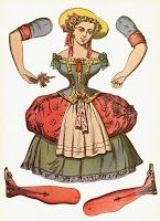 Looking for something creative to do with the kids while they are still off for the holidays? I remembered these vintage graphics of adorable hinged paper dolls graphics I had in my stash and had to share. Like little marionettes,. Paper Puppets, Paper Toys, Toy Theatre, Free Graphics, Graphics Vintage, Vintage Paper Dolls, French Vintage, Art Dolls, Paper Art
