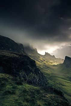 Stormy Scottish Landscape