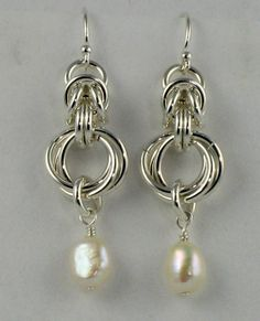 Sterling Silver Byzantine Mobius Earrings with by FarrelliaJewelry