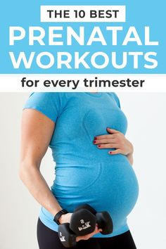 10 Pregnancy Workouts for EVERY TRIMESTER! These workouts are designed to help expecting moms maintain strength and endurance throughout their pregnancies! Each prenatal workout is around 30 minutes and requires minimal or no equipment! Pregnancy Workout Videos, Pregnancy Goals, Prenatal Workout, Prenatal Yoga, Pregnancy Fitness, Birthing Ball, Strength Training Workouts, Burn Calories, At Home Workouts