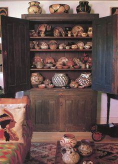 Amazing collection of antique Native American Pueblo pottery.