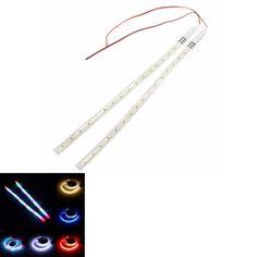 2PCS 30CM LED Flashing Strobe Scanner Neon Strip Light Knight Rider Lamp For Motorcycle Auto Car