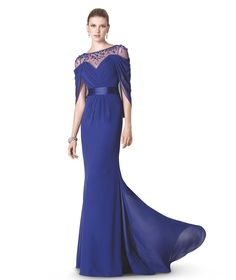 blue mother of the bride dresses beading ombre evening/prom dress strapless bridesmaidvestidos para la madre de la novia plata