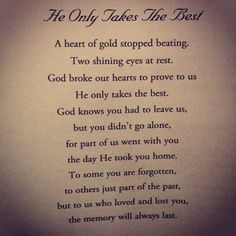 god only takes the best death poem - Google Search
