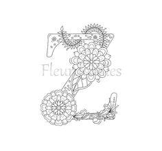 Die 59 Besten Bilder Von Floral Letters By Fleurdoodles Floral