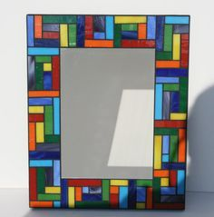 Mosaic frame or mirror.