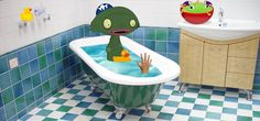 The Voice Beneath the Bathtub. Scary story to tell in the dark to kids. #scary #creepy #story #kids #CreepyPasta